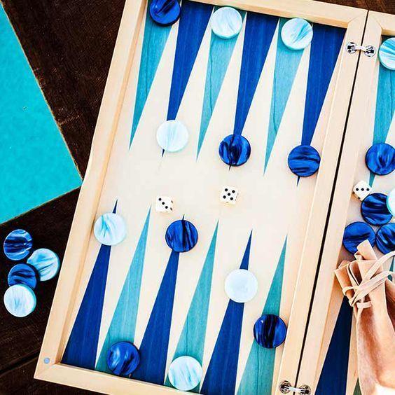 mavi tavla takımı
