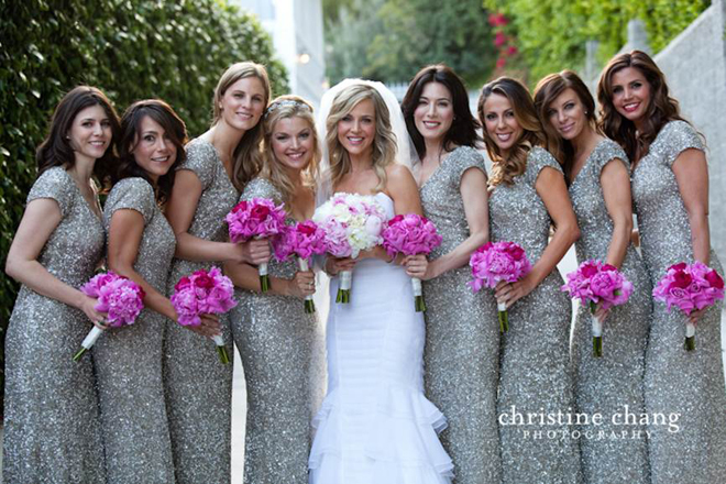 Silver Frock for Bridesmaids