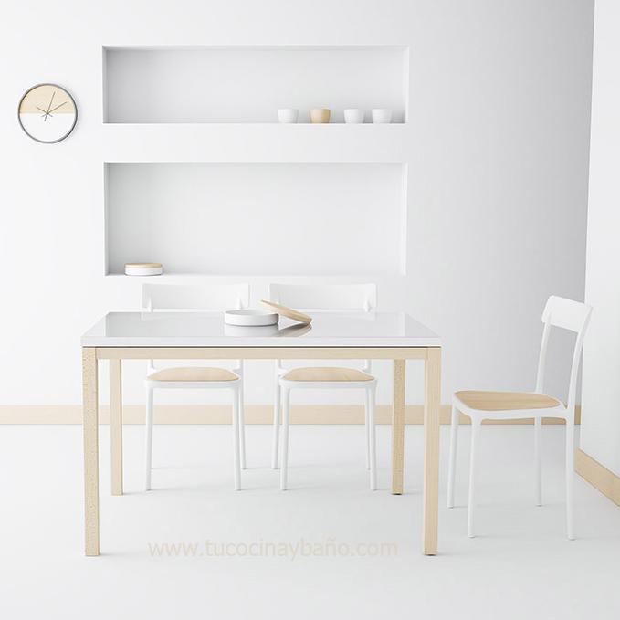 Precio mesa cocina cristal extensible moderna redonda tu - Mesa extraible cocina ...