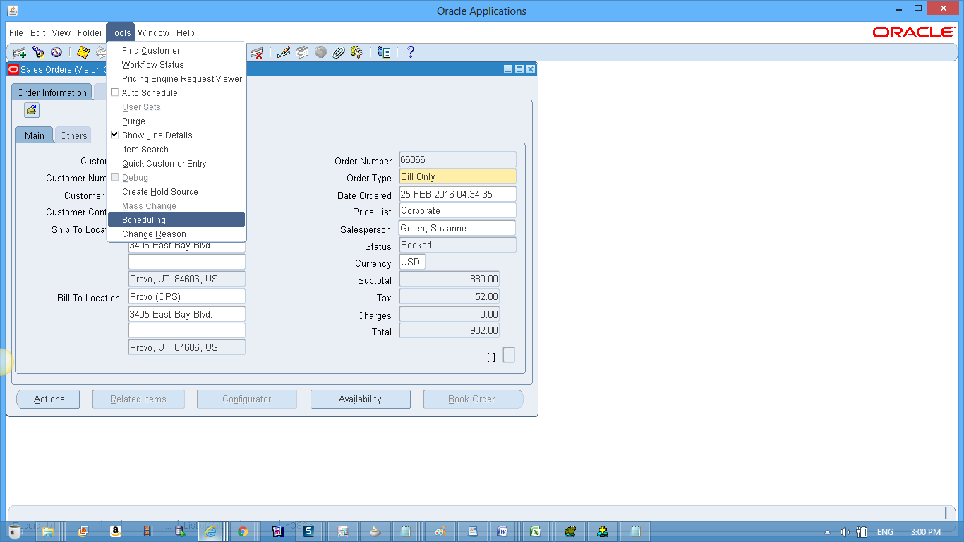 Oracle Order Management :Bill Only Orders - eBiz Integration Technics