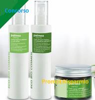 Logo Vinci gratis 5 pacchi regalo cosmetici Santiveri linea Palmea Linyva!