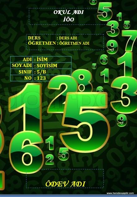 matematik: Matematik Ödev Kapakları