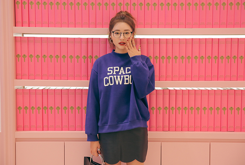 SPACE COWBOY Mock Neck Sweatshirt
