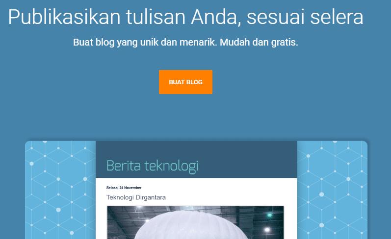 Cara Membuat Blog Sendiri Dengan Platform Blogspot 2