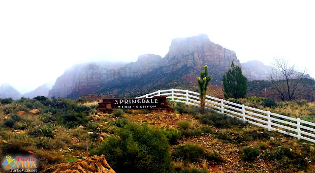 The #ZionHalf ends in the town of Springdale, UT - at the entrance to Zion National Park.