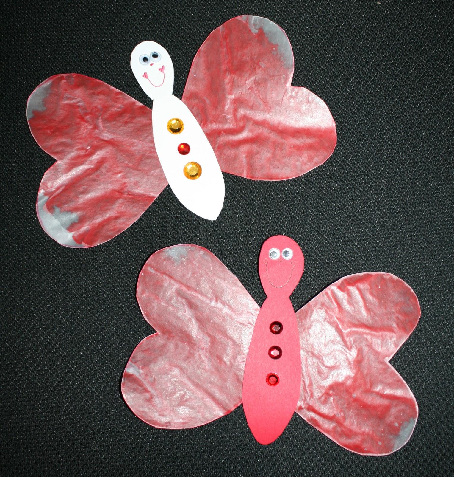 Wax Paper Butterflies