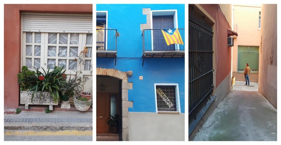 rues colorées à Castello d'Empuries