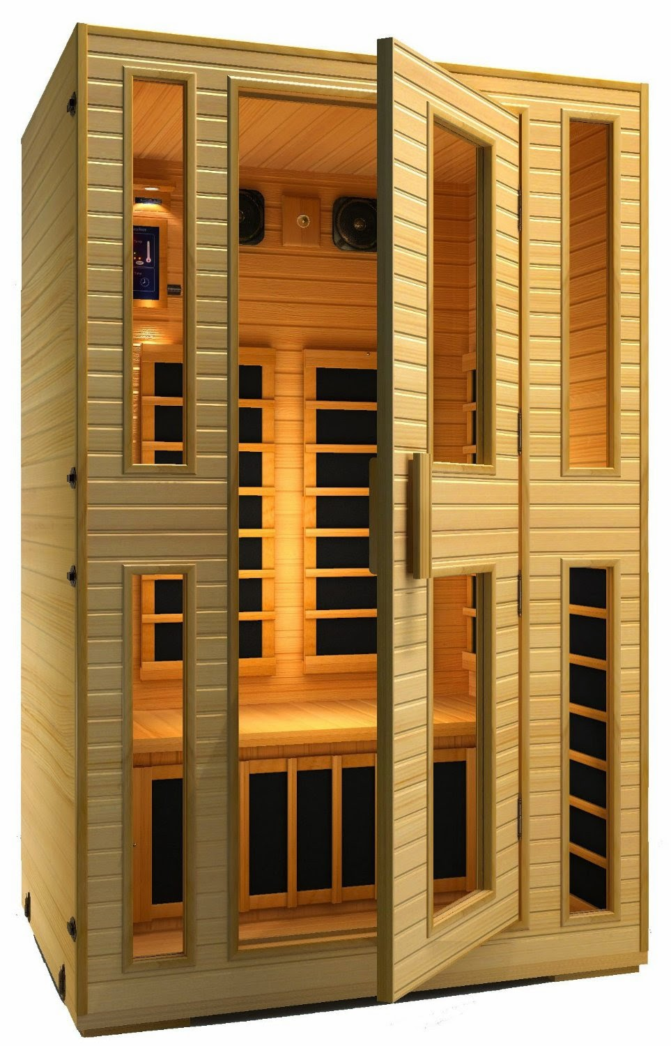 JNH LifeStyles 2 Person Far Infrared Sauna 7 Carbon Fiber Heaters, health benefits of saunas