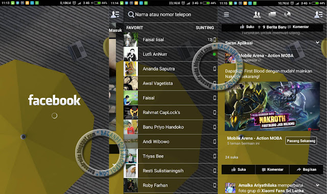 Update Facebook Mod Transparan Theme V8 Terbaru For Android