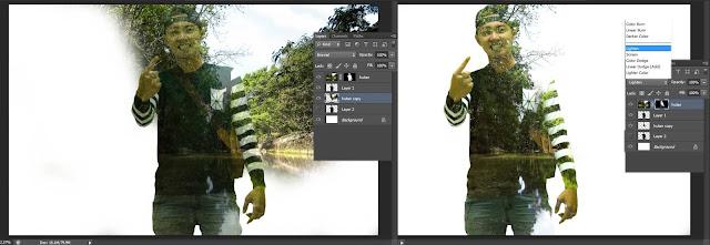 Cara membuat foto dengan efek double exposure di photoshop