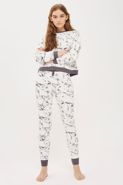 Marble Print PJ Set from Topshop