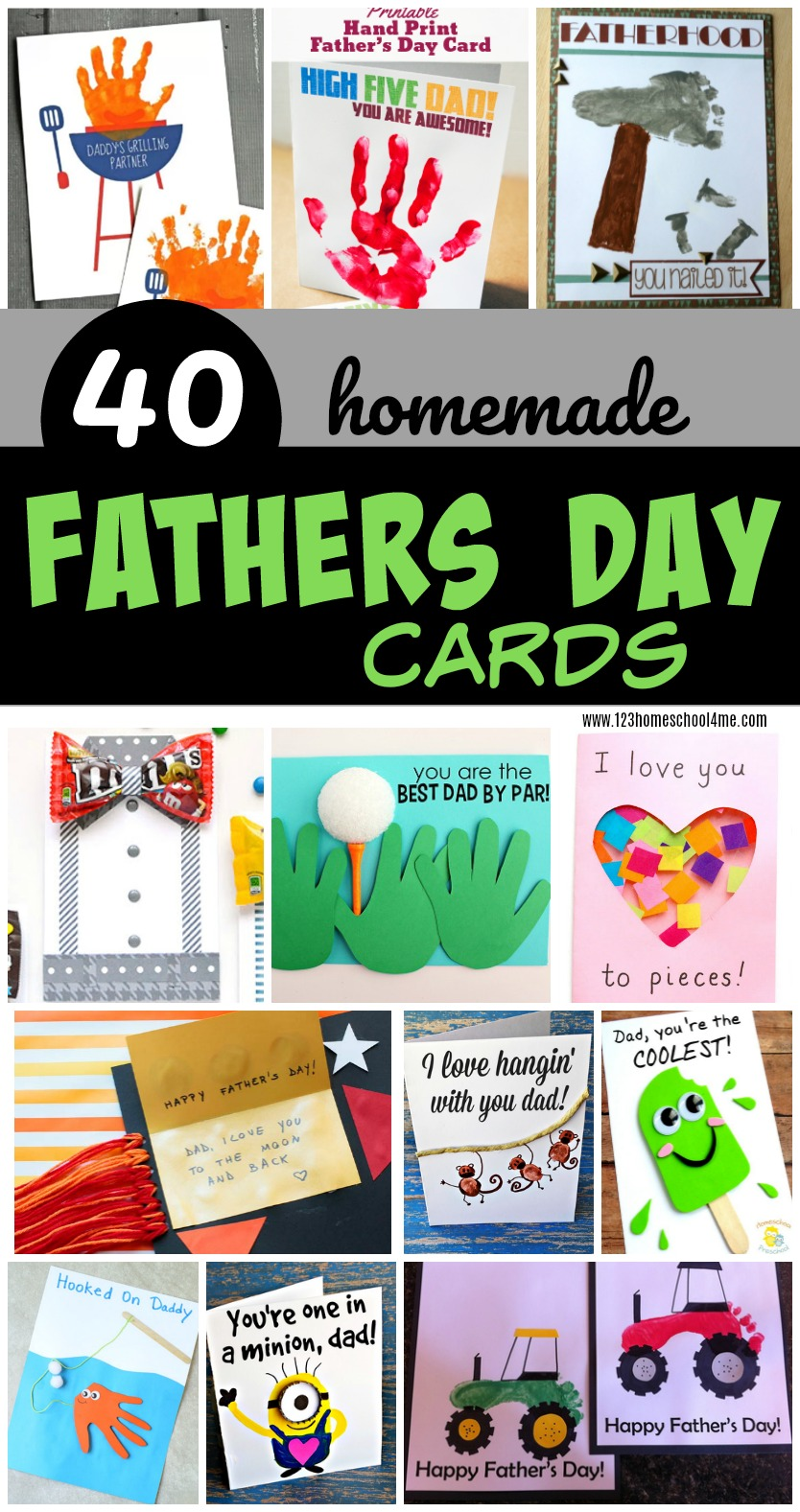 40 homemade fathers day cards