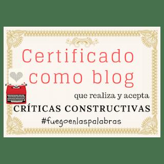 Certificado de críticas constructivas