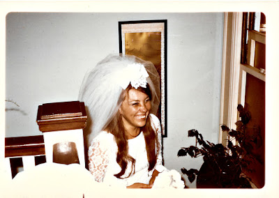 Elena Vasilev before her June 1970 wedding at the Holy Trinity Cathedral in San Francisco, California
