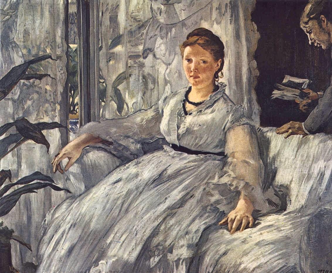 A Leitura - Pinturas impressionistas pintadas por Édouard Manet