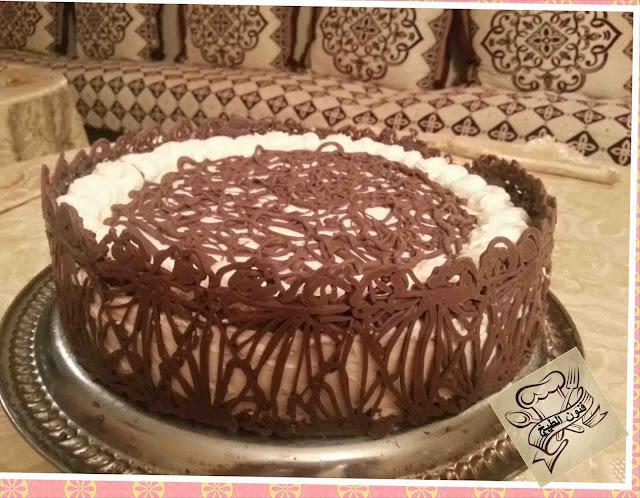 طورطة بالشوكولا,طورطة,طورطة بالشوكولا دانتيل,الشوكولا دانتيل,gateau au chocolat,gateau