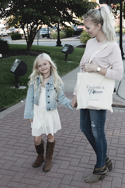 mommy and me fall style booties boots denim jeans blonde platinum ideas outfit