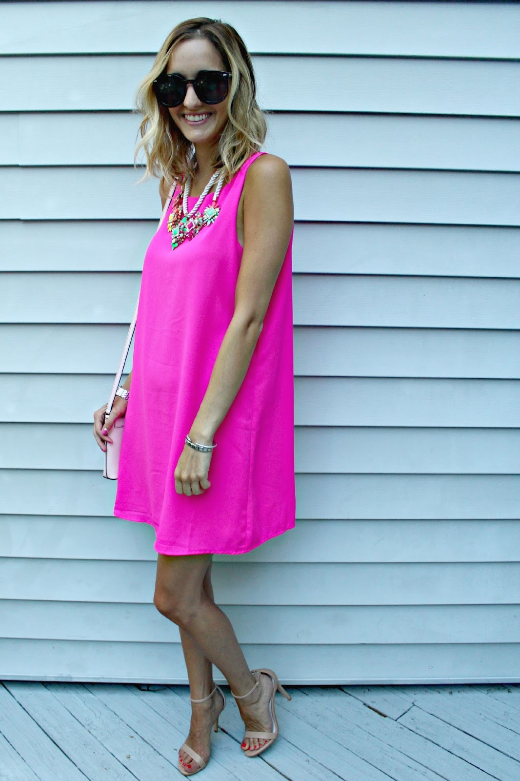 neon pink summer outfit