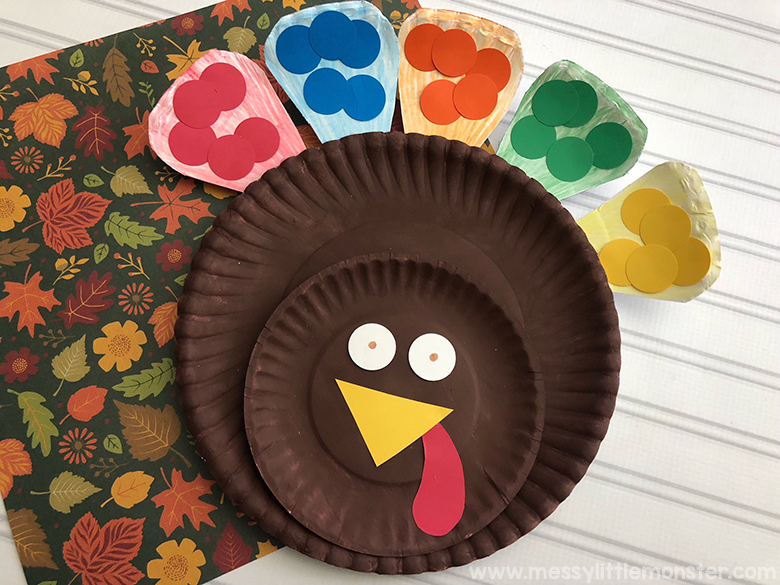 Colour Match Paper Plate Turkey Craft For Toddlers Messy