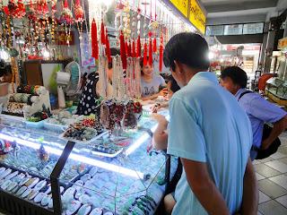 Jade shop in Yangon Bogyoke Market