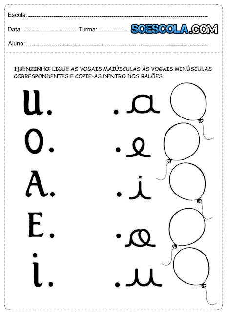 Atividades de Português 1° ano para imprimir