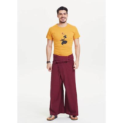 Balıkçı pantolonu bordo