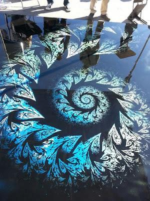 3D bathroom flooring with decorative epoxy floor murals