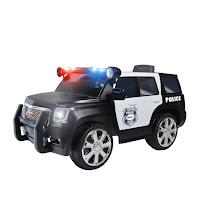 Mobil Mainan Aki Junior W462 GMC Yukon Denali Police SUV Lisensi