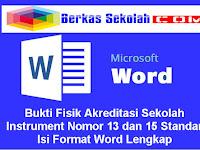 Bukti Fisik Akreditasi Sekolah Instrument Nomor 13 dan 15 Standar Isi Format Word Lengkap