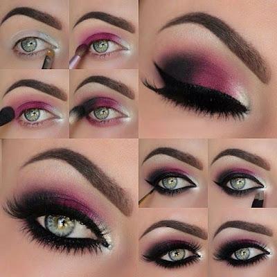 Maquillaje de OJOS elegante rosa