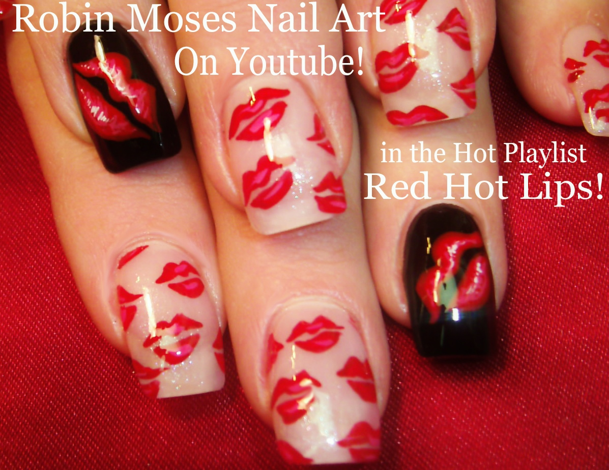 Nail Art by Robin Moses: Neon Striped Nail Art Design Tutorial up ...