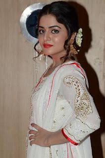 Actress Wamiqa Gabbi Stills in White Salwar Kameez at Nannu Vadili Neevu Polevule Audio Launch  0013.jpg