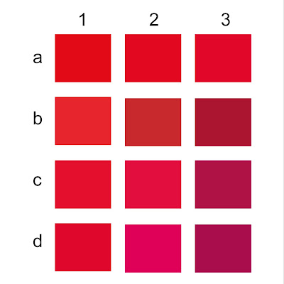 Stiker l Kaos l stiker segel Variasi warna merah cmyk