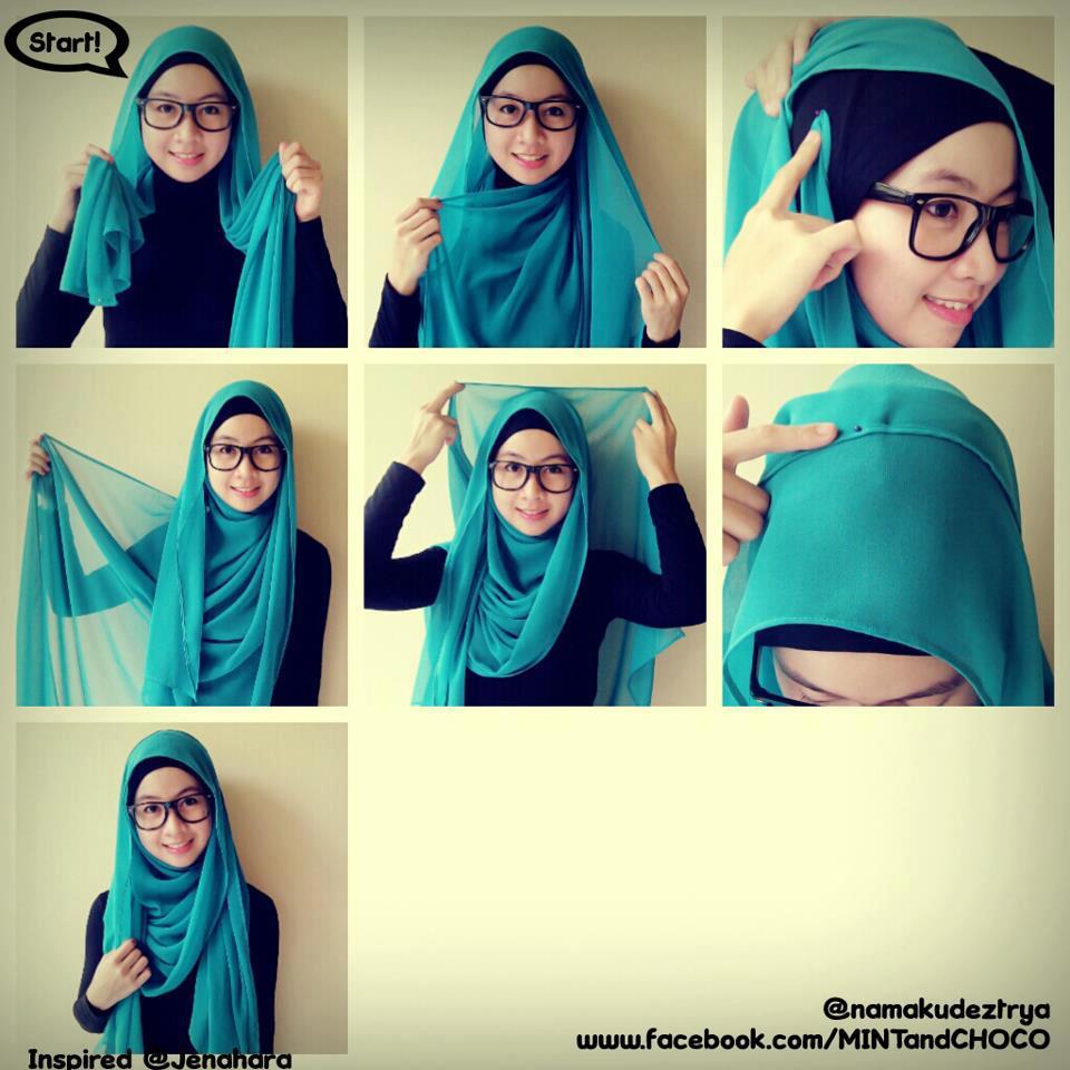 85 Gambarnya Tutorial Hijab Pashmina Wajah Kotak Untuk Anda