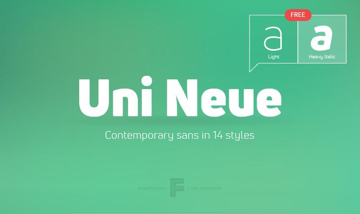 Uni Neue Tipografía Gratis