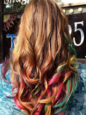 color pelo mechas peinados 2014