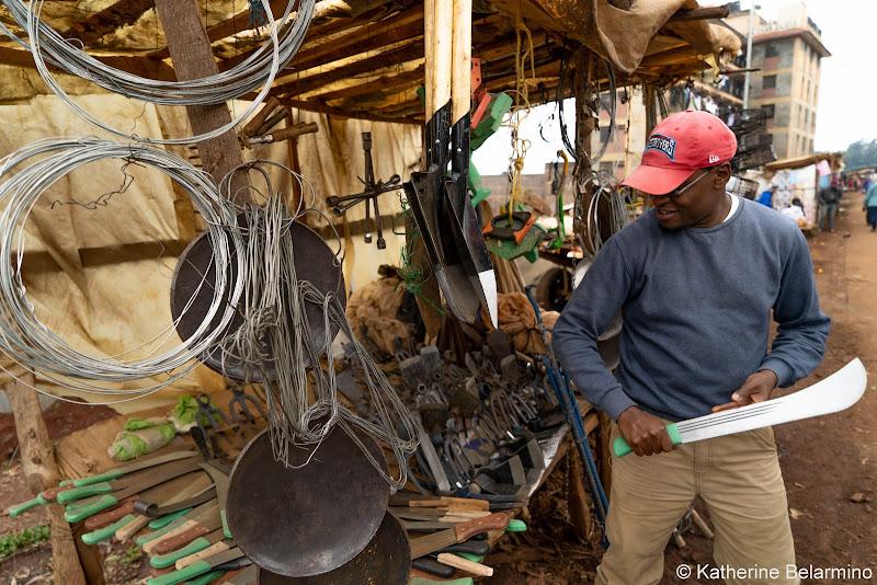 Kelvin at Farming Tools Vendor Volunteering in Kenya with Freedom Global