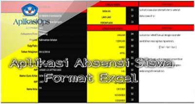 Aplikasi Absensi Siswa Format Excel Sesuai Juknis