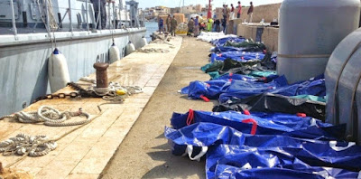 first anniversary of the death of 800 migrants off Lampedusa