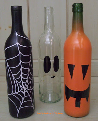 Raid your recycling bin and make these adorable, spooky bottles to dress up your house. They're easy to make and they'll last forever.