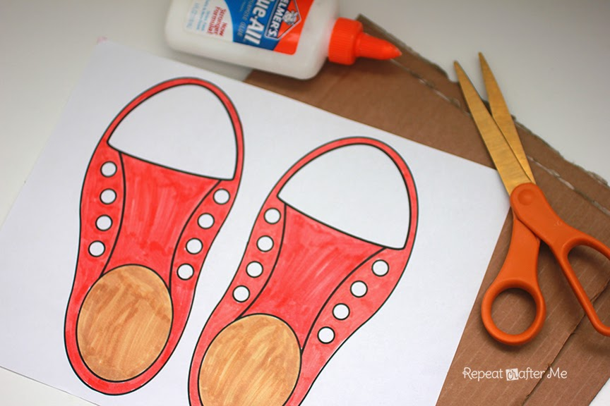 Tying Shoe Lace Template