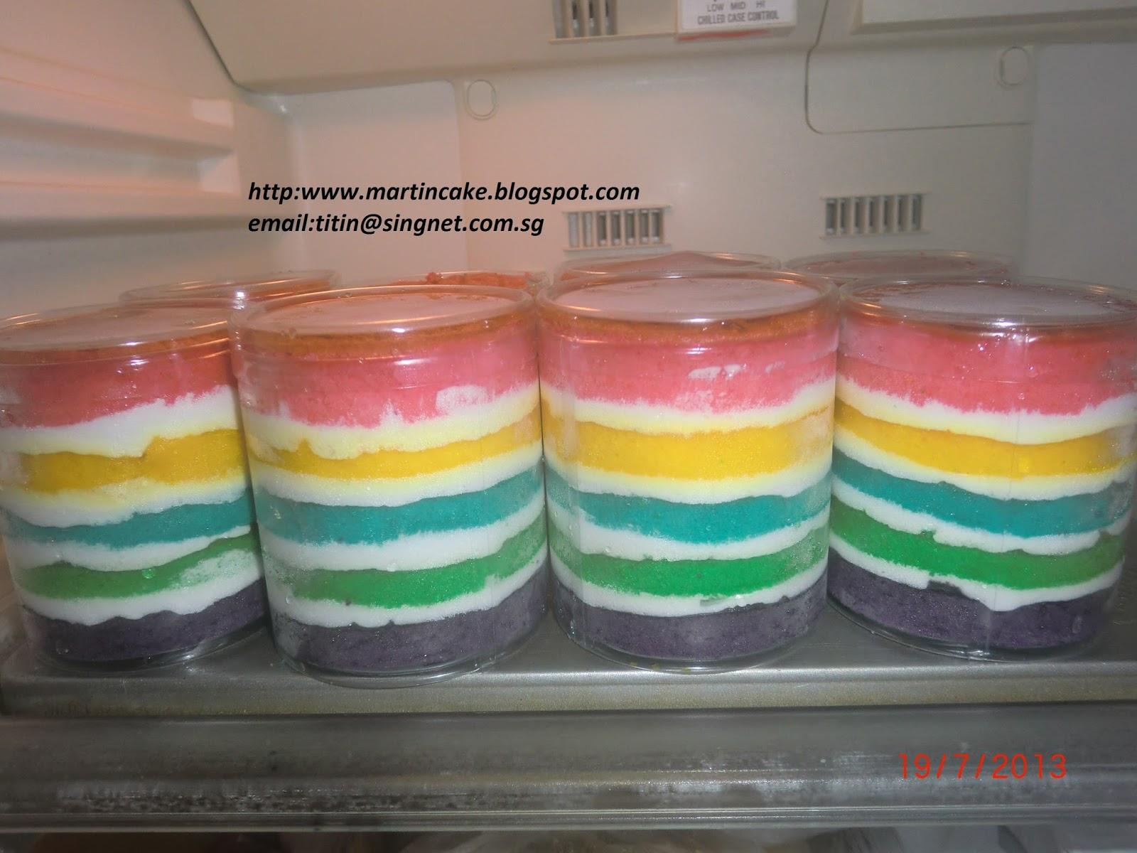 Resep Cake In Jar Rainbow: Martin's Cake: Rainbow Cake In Jar Singapore