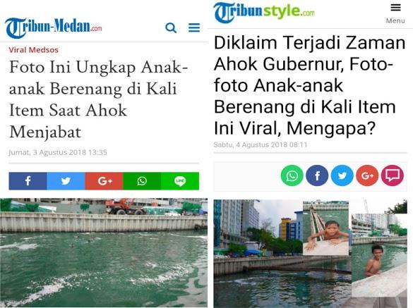 Foto Kali Item Viral, Warga: Kayak Gitu Pasti Editan, Dari Dulu Airnya Hitam
