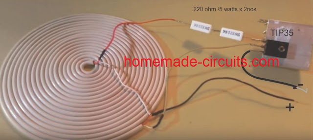wireless cellphone charger circuit and the prototype images