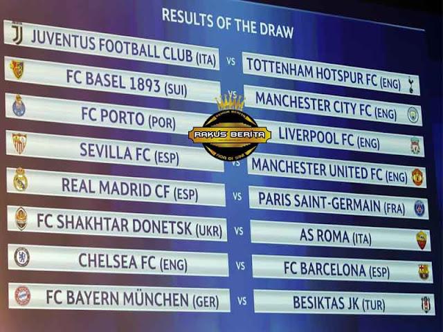 RESMI ! Madrid Vs PSG, Barca Vs Chelsea, Juve Vs Tottenham