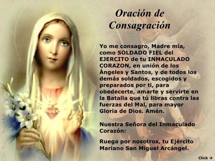 Gracias De La Medalla Milagrosa Oraciones E Intenciones A La Virgen Oración De Consagración Al Inmaculado Corazón De María