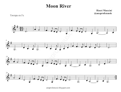 partitura moon river anaprofemusic