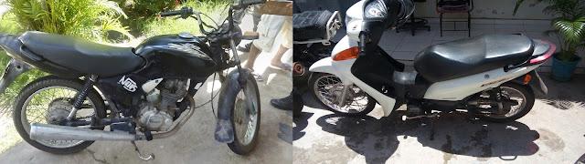 Duas motos roubadas são recuperadas por Policiais Militares em Chapadinha