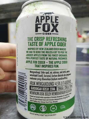 Apple fox cider canned drink