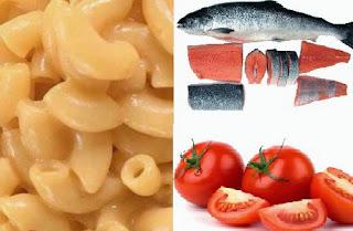 Pasta Makaroni dan Ikan Salmon